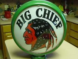 Super Rare Big Chief Gas Globe