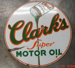 Rare Clark Porcelain Sign