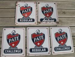 Rare Porcelain Pate Signs