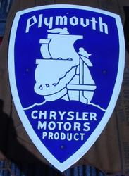 Rare Mint Plymouth Sign