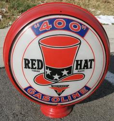 Rare Red Hat Gas Globe