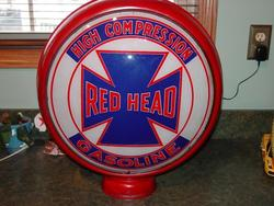 Red Head Gas Globe