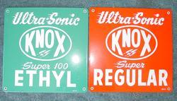 Scarce Knox Porcelain Pump Plates