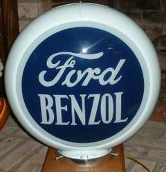 Ford Benzol Reproduction Gas Globe