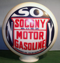 Socony Reproduction One Piece Gas Globe