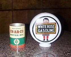 White Rose Repro Gas Globe
