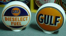 Pair of Gulf Gas Globes