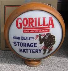 Rare Gorilla Battery Globe