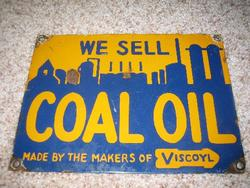Rare Stolls Coal Oil Porcelain Sign