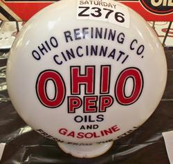 Ohio Pep One Piece Etched Phony Globe