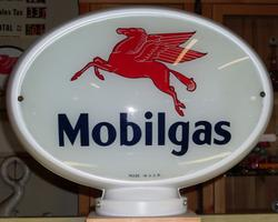 Very rare oval Mobil gas globe