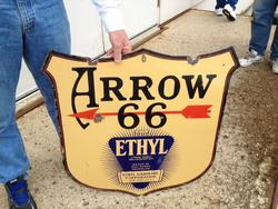 Rare Porcelain Arrow 66 Sign